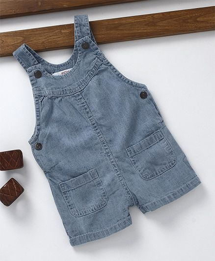 Fox Baby Sleeveless Denim Dungaree - Blue