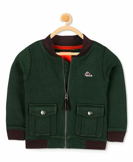 Cherry Crumble California Box Fleece Jacket - Green