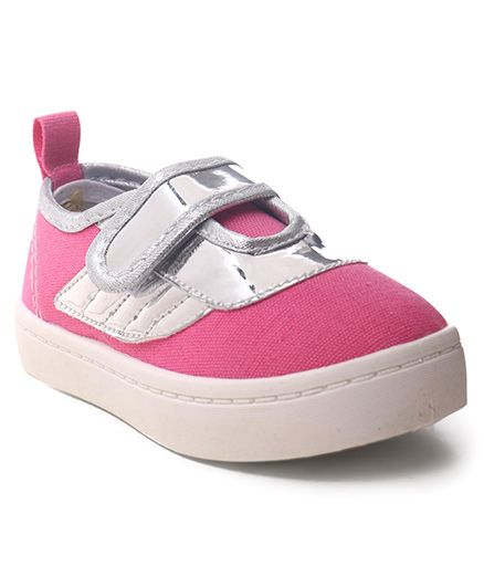 Cute Walk by Babyhug Velcro Canvas Casual Shoes - Pink