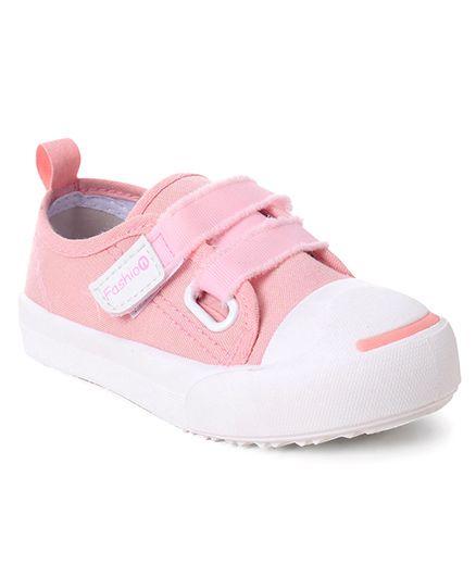 Cute Walk by Babyhug Canvas Casual Shoes - Peach