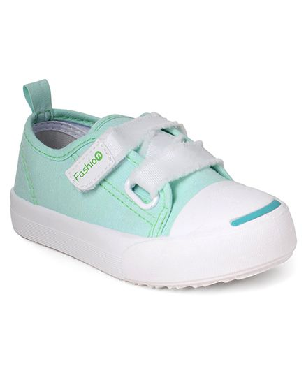 Cute Walk by Babyhug Canvas Casual Shoes - Sea Green