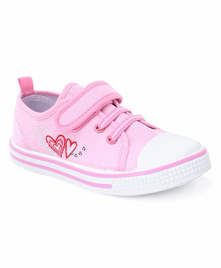 Cute Walk by Babyhug Heart Design Casual Shoes - Pink