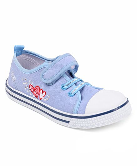 Cute Walk by Babyhug Heart Design Casual Shoes - Blue