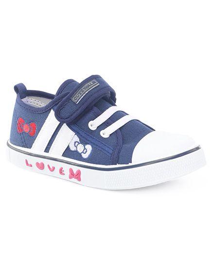 Cute Walk by Babyhug Bow Design Casual Shoes - Dark Blue