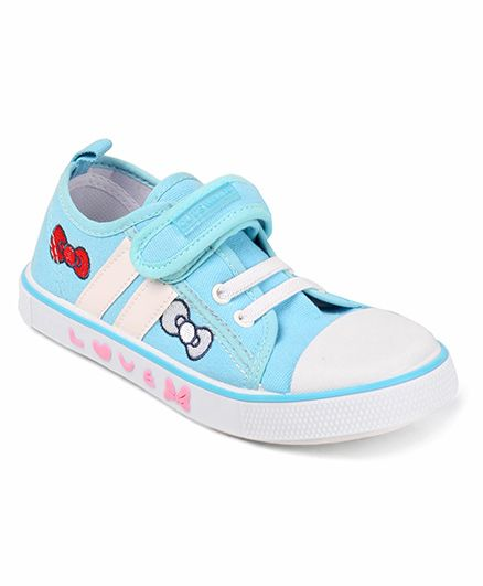 Cute Walk by Babyhug Bow Design Casual Shoes - Aqua Blue