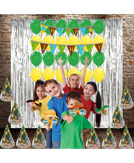 Party Propz Jungle Combo Birthday Decoration Set - Green & Multicolor