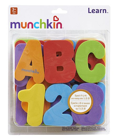Munchkin Learn Bath Letters And Numbers Multicolour - 36 Pieces