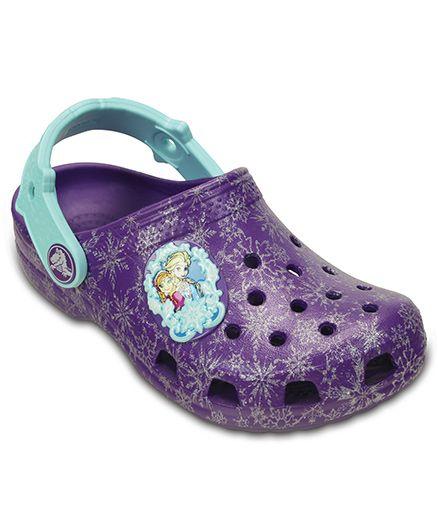 Crocs Classic Frozen Clogs - Neon Purple