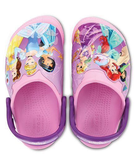 Crocs Fun Lab Lights Princess Clogs - Pink