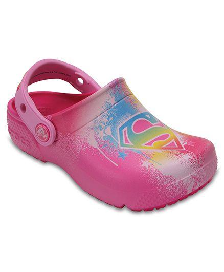 Crocs Fun Lab Supergirl Clogs - Candy Pink