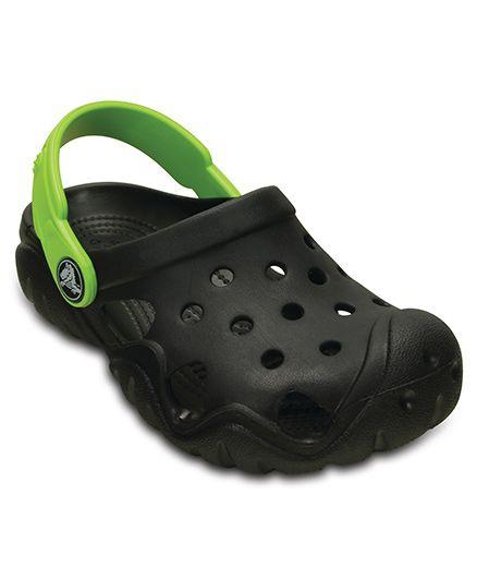 Crocs Swiftwater Clog - Black & Volt Green