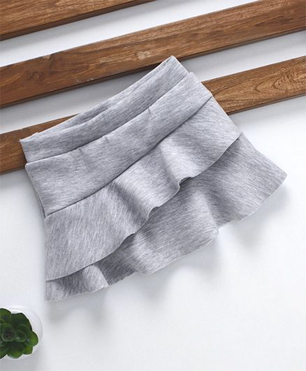 Fox Baby Solid Colour Layer Skirt - Grey