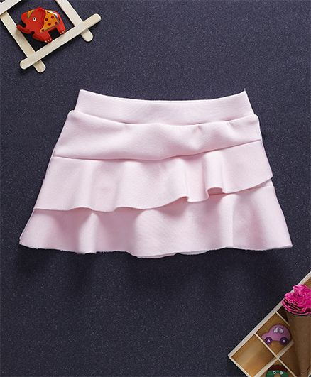 Fox Baby Solid Colour Layer Skirt - Pink