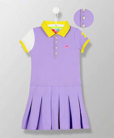 Cherry Crumble California Polo Dress - Blue