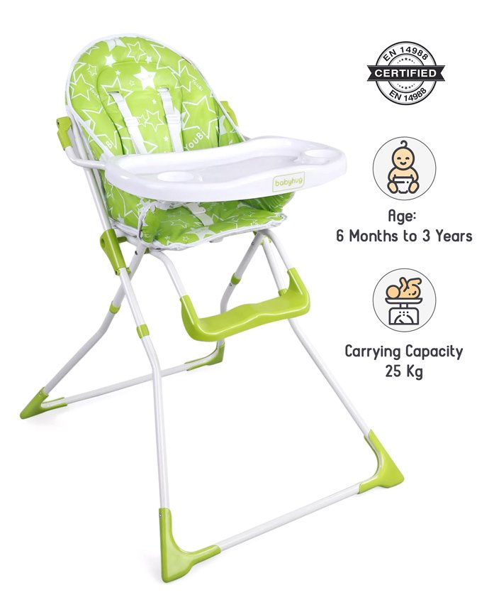 Babyhug Fun Feast Highchair - Green