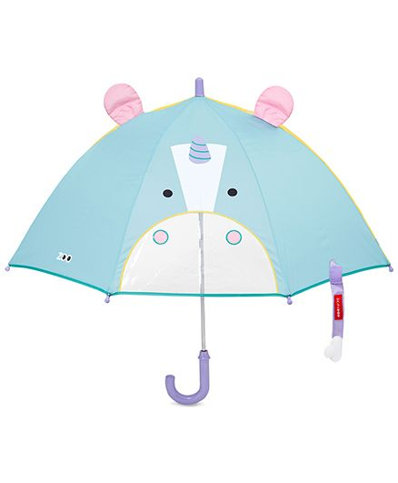 Skip Hop Zoobrella Little Kids Umbrella - Blue Yellow