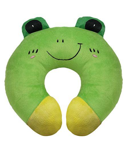 Ultra Neck Pillow Frog Design - Green