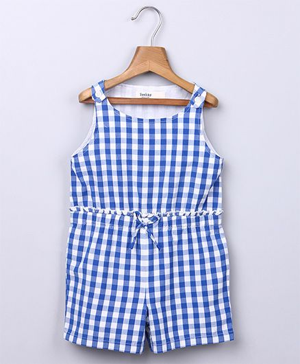 Beebay Gingham Jumpsuit - Blue
