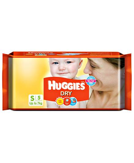 Huggies Dry Taped Diapers Small Size - 5 Pieces