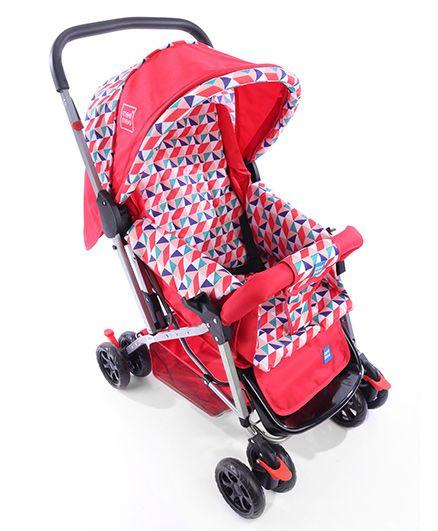 Mee Mee Pram Cum Stroller With Reversible Handle - Red