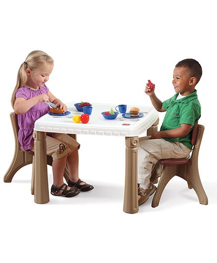 Step2 Table And Chairs Set - Brown