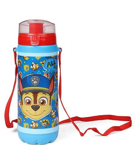 Paw Patrol Sipper Bottle With Strap Blue Red - 500 ml