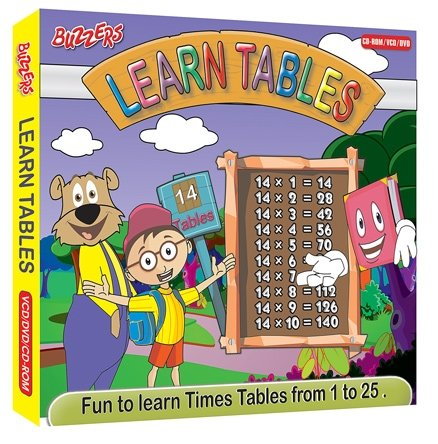 Buzzzers - Learn tables DVD VCD CD ROM