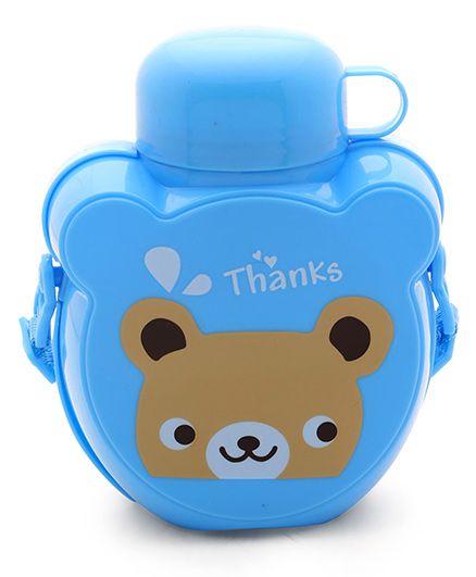Water Bottle Bear Print Blue - 500 ml