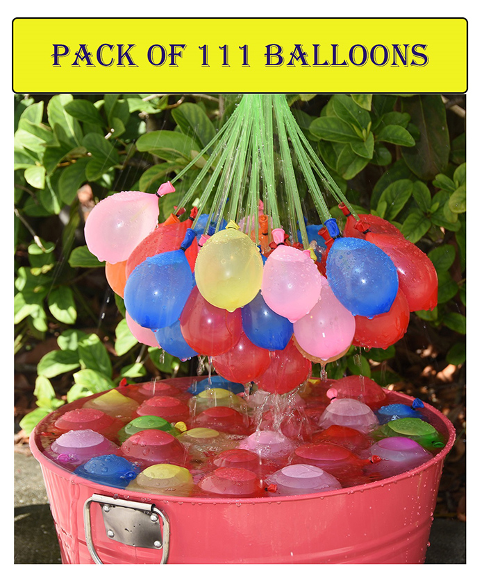 Syga Fast Fill Magic Water Balloons Pack of 111 - Multi Color