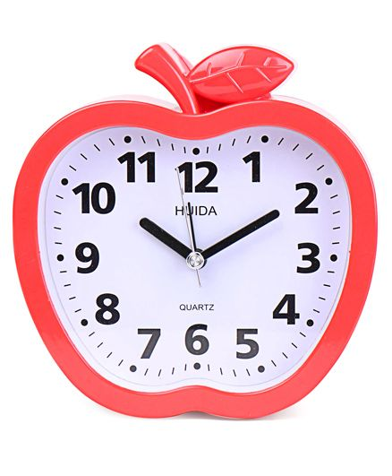Apple Shaped Alarm Clock - Red