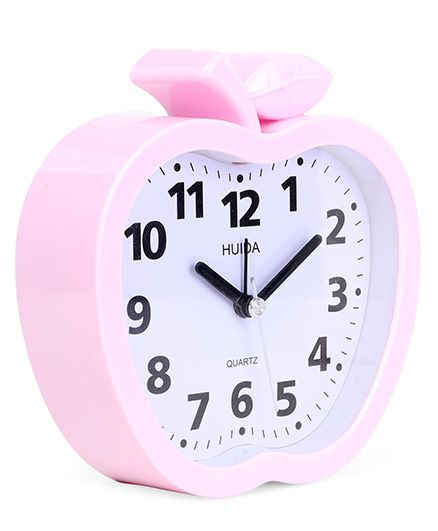 Apple Shaped Alarm Clock - Pink