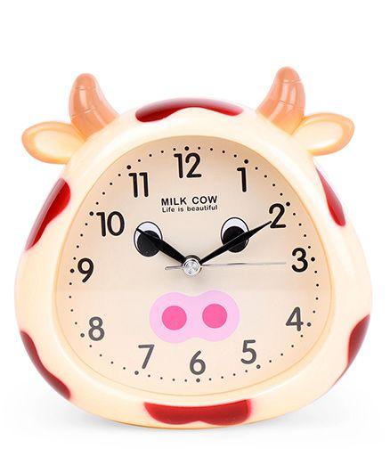 Cow Face Shape Clock - Cream