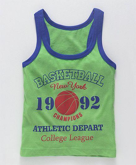 Bodycare Sleeveless Vest Basketball Print - Green