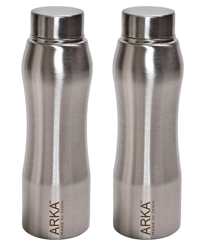 Pexpo Bristo Stainless Steel Water Bottle Silver Pack of 2 - 1500 ml