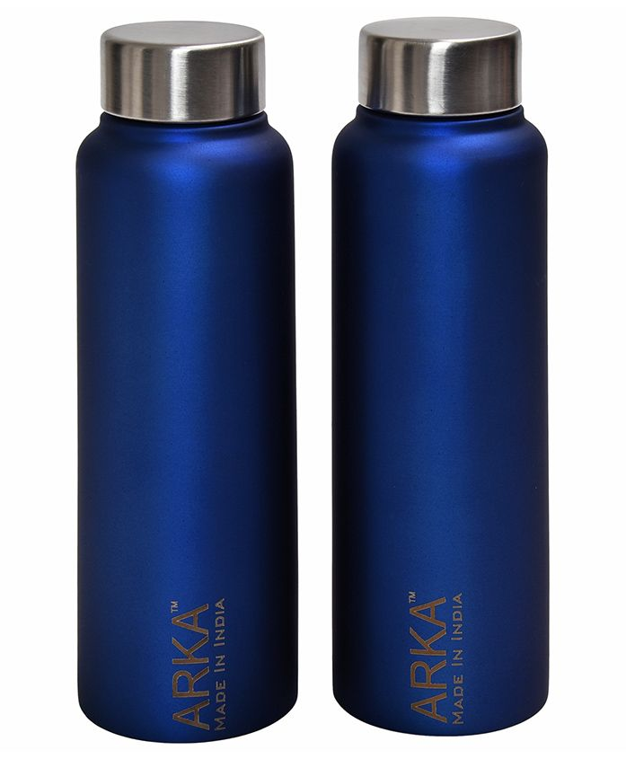 Pexpo Stainless Steel Water Bottle Blue Pack of 2 - 500 ml each