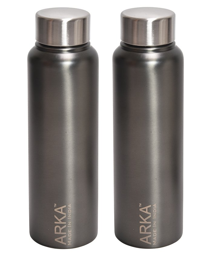 Pexpo Stainless Steel Water Bottle Grey Pack of 2 - 500 ml each