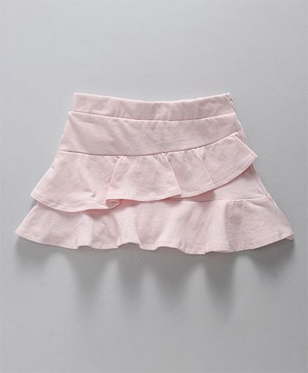 Fox Baby Solid Colour Skirt Layer Pattern - Light Pink