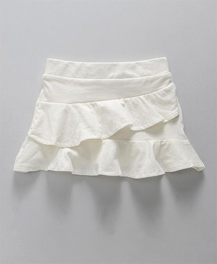 Fox Baby Solid Colour Skirt Layer Pattern - Off White