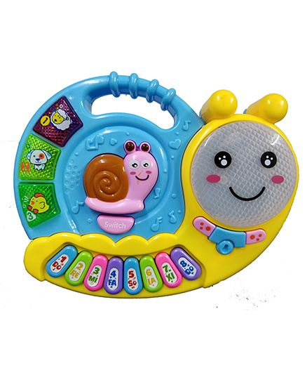 Emob Snail Shaped Piano Toy With Lights - Multicolour