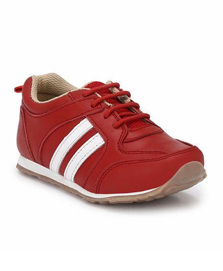 Tuskey Velcro Jogger Shoe - Red