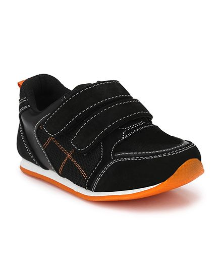 Tuskey Thread Work Velcro Jogger Shoes - Black