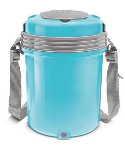 Milton Electron Electric Lunch Pack With 4 Stainless Steel Containers Blue - 360 ml Each