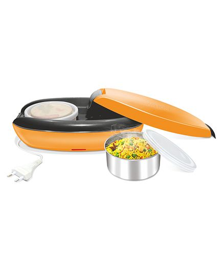 Milton Swiftron Electric Stainless Steel Lunch Pack With 2 Containers Orange - 260 ml each