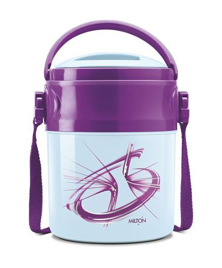 Milton Odyssey Deluxe Airtight Insulated Lunch Box With 3 Steel Containers - Purple