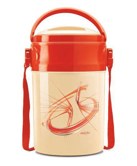 Milton Odyssey Deluxe Airtight Insulated Lunch Box With 4 Steel Containers - Red