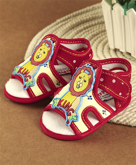 Fisher Price Booties Lion Motif - Red & Yellow