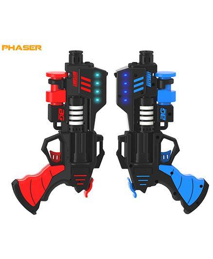 Rayshot Phaser Interactive Toy Gun Pair - Red & Blue