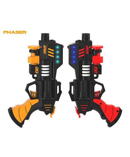 Rayshot Phaser Interactive Toy Gun Pair - Red & Orange