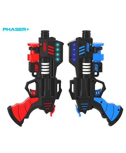 Rayshot Phaser+ Interactive Toy Gun Pair - Red & Blue