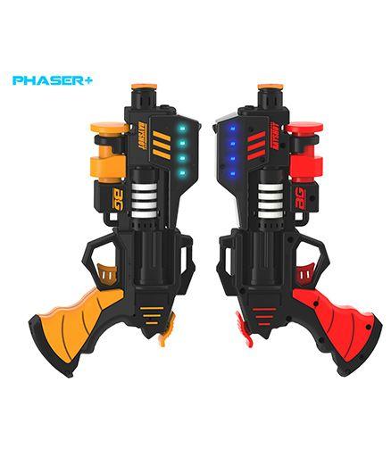 Rayshot Phaser+ Interactive Toy Gun Pair - Red & Orange